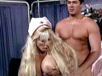 Big breasted blonde nurse savors the sex satisfaction from a hot patient.