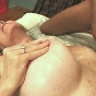 Slutty Mature Bitch Squeezing Her Nips While Getting Her Huge Tits Cumhosed