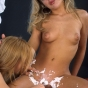 Blonde Bitch Shaving Her Lesbian Lover's Hair Pie