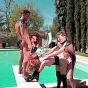 New SMUT! blonde pornstars in leather doing it by the pool porn video!