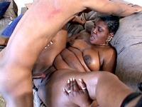 Horny fat ebony loves deep cunt drilling
