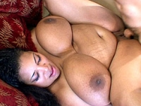 Fat ebony pussy rammed by a thick cock
