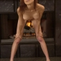 Skinny Asian Sizzles Up By The Fireplace