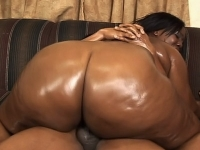Ebony BBW beauty lets a stud drill her plump ass