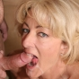 Cum Thirsty Mom Gets Her Face Hole Jizzed