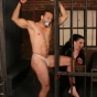 Hot Chick Anastasia Pierce Duct Tapes Her Slave While She Plays With His Hot Body