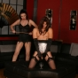 Hot Female Dominant Anastasia Pierce Trains Her Submissive Partner And Punishes Him With A Cane
