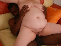 Sassy bbw Charlly picks up black stud and take him home to fuck his big black cock