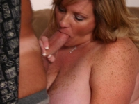 Pretty bbw Deedra sucking off a total stranger and taking his cock deep into her pussy slit