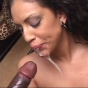 Sultry Latina Ice La Fox Humping On Top Of A Huge Black Cock And Takes Nasty Cum Hosing All Over Her Mouth