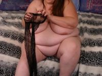 Sexy bbw Ann does a little striptease and takes pussy stretching from a big cock