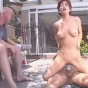 Horny Matured Brunette Riding Erected Meaty Cock In Outdoor Sex Play