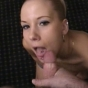 Blonde Smoothie With Tongue Stud Wanting Her Face To Be Covered In Cum