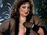 big hot brunette in sexy black lingerie