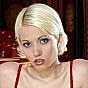 Cool Blonde In Red Hot Underwear