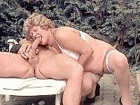 Chubby blonde having a sweaty bush fucking session