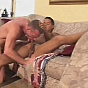 New SMUT! muscular hunk deeply swallowing large and meaty dick on couch porn video!
